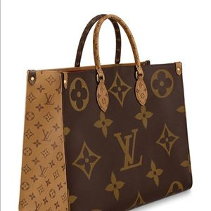 Louis Vuitton On the Go Tote Brown